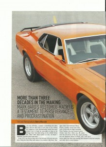 My 70 Mustang In The August Issue Of Modified Mustangs & Fords